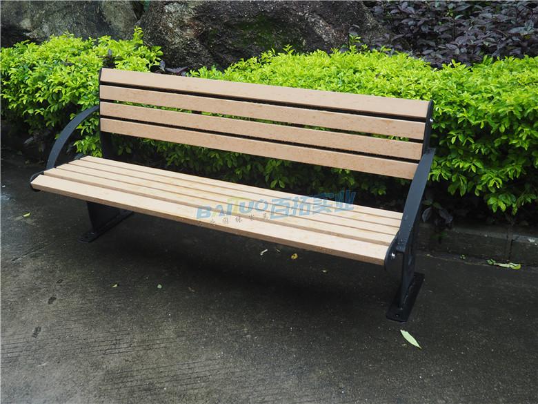 公园平凳椅安装效果图