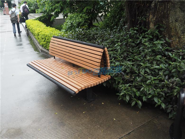 公园长凳子安装实物图