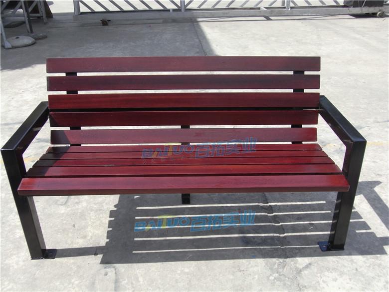 户外家具条型凳靠背长椅展示图