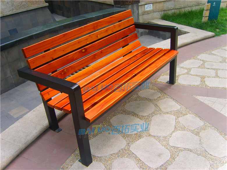 户外家具条型凳靠背长椅颜色可定制