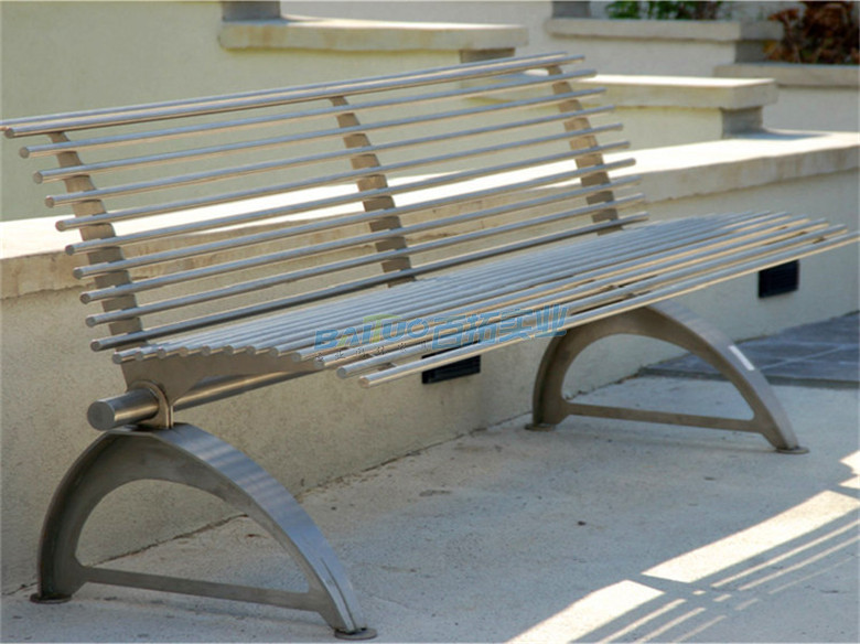 不锈钢长凳靠背近景细节图