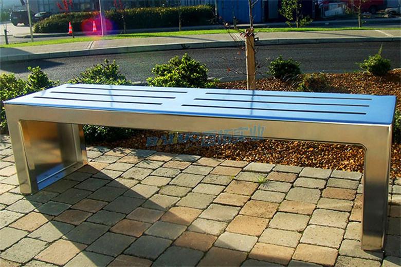 不锈钢户外休闲凳近景展示图