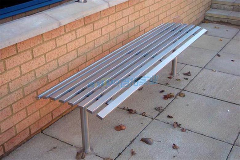 户外不锈钢长条凳子款式三展示