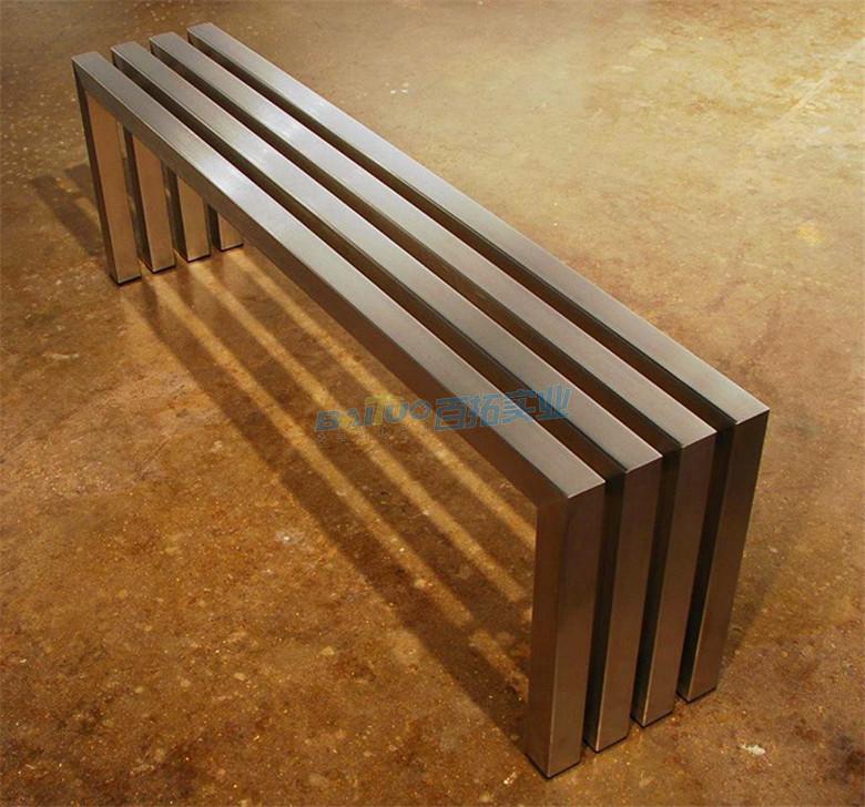 户外不锈钢凳子椅面展示图