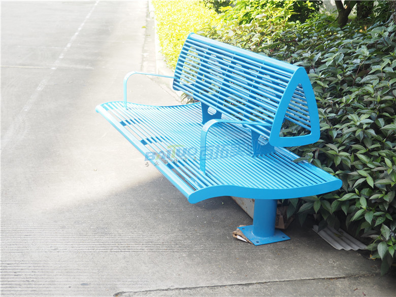 园林铁长凳颜色可定制