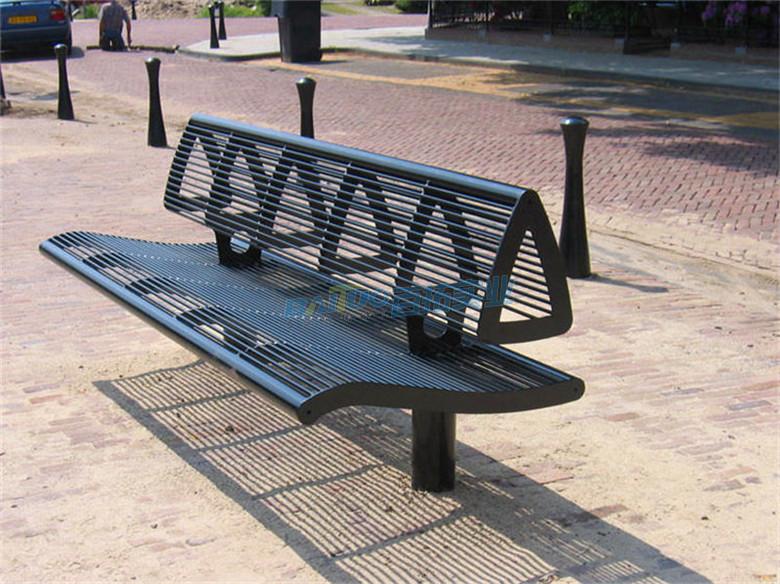园林铁长凳展示图