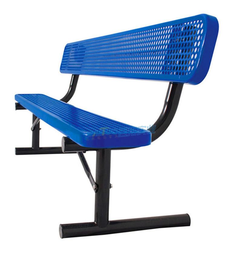 休闲能固定的长凳侧面展示图