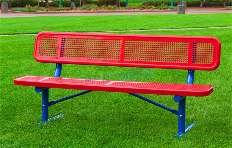 休闲能固定的长凳安装效果图