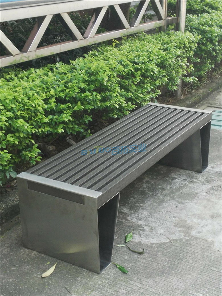 不锈钢长凳侧面细节图