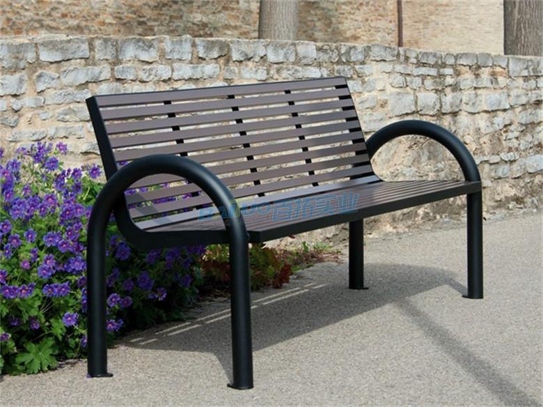 铁艺靠背长凳材料可定制