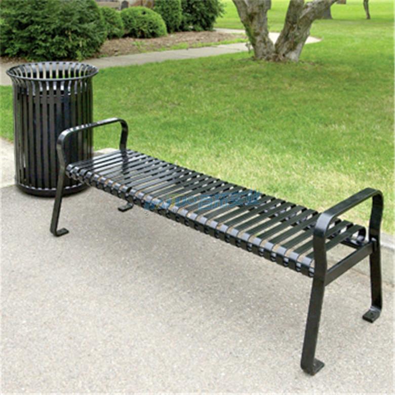 室外长方形凳子安装效果图