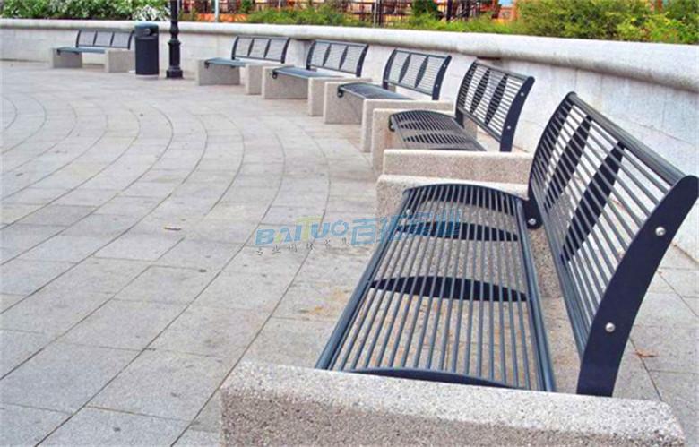 带靠背长凳安装效果图