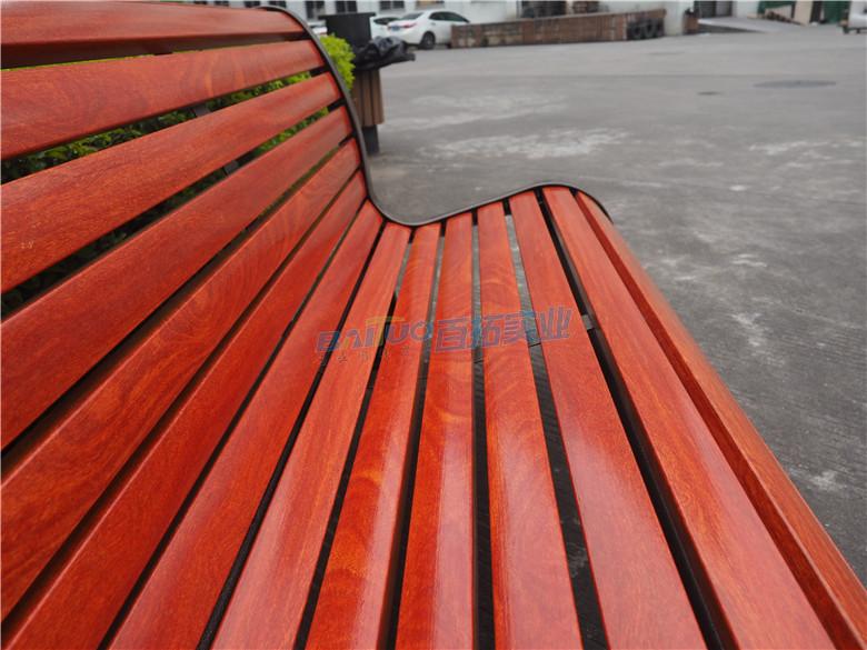 红色室外坐凳椅面材料展示图
