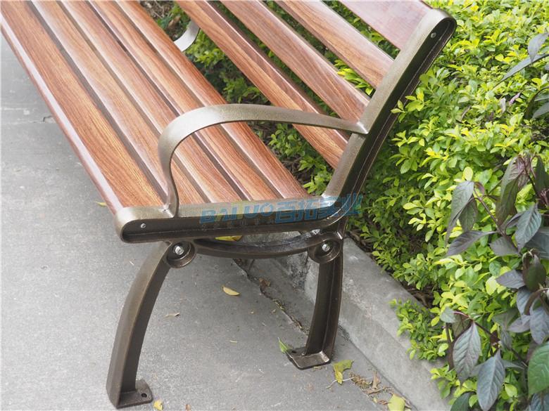 室外成品坐凳侧面细节图