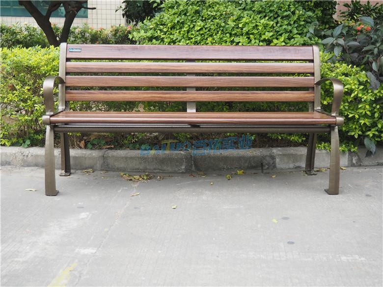 室外成品坐凳正面特写图