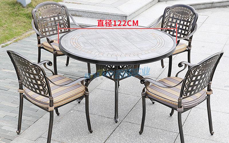 户外铝制桌椅尺寸图