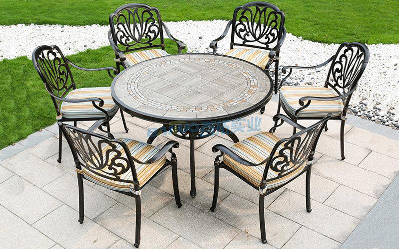 户外铝制桌椅桌面展示图