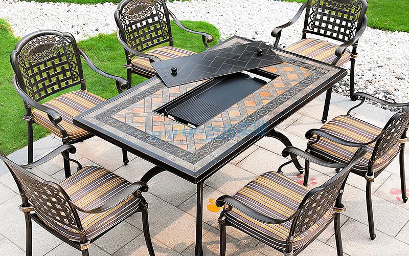 户外铁艺桌子产品设计展示图