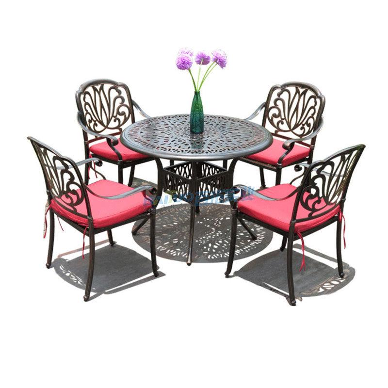小区户外欧式休闲桌凳椅展示图