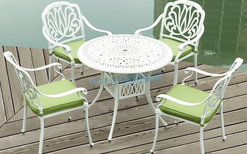 小区户外欧式休闲桌凳椅实物图