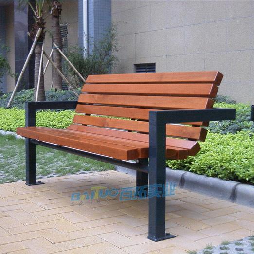 户外家具条型凳靠背长椅