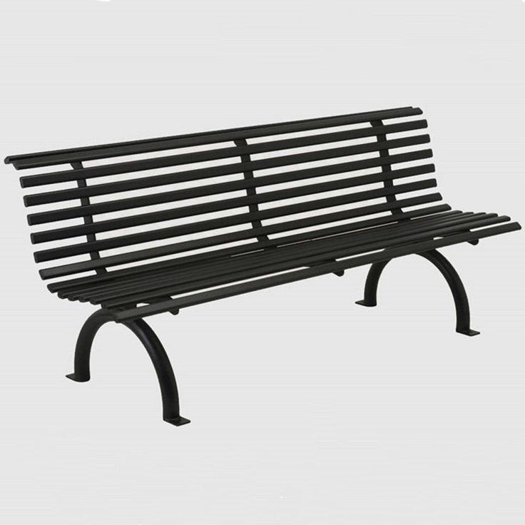 公园铁艺长条凳