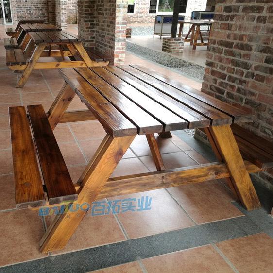 户外木质桌椅