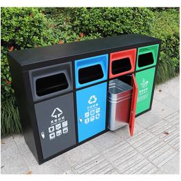 戶外垃圾分類桶 分類垃圾桶定制