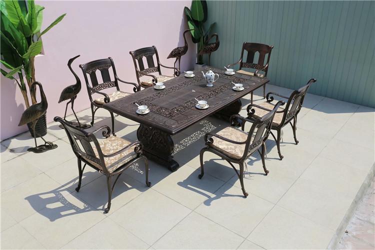 户外铸铝桌椅 铸铝户外家具厂家