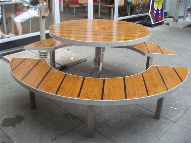 露天防腐木桌椅